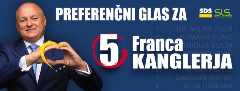 Preferenčni glas za Franca Kanglerja